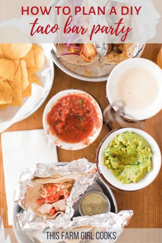 taco bar checklist