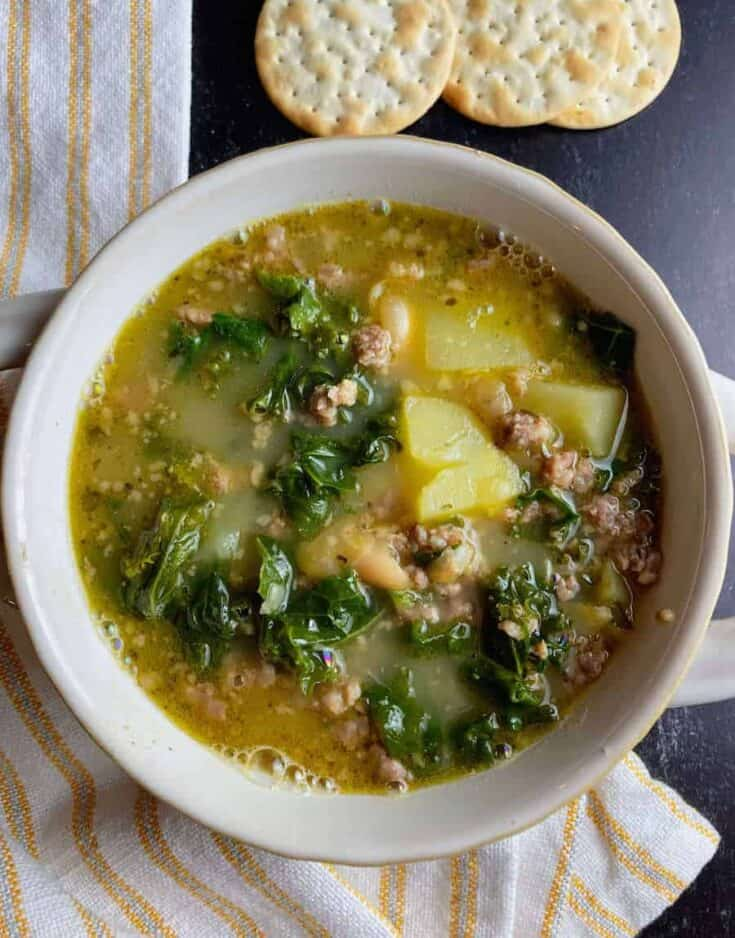 tuscan bean soup with sausage 3