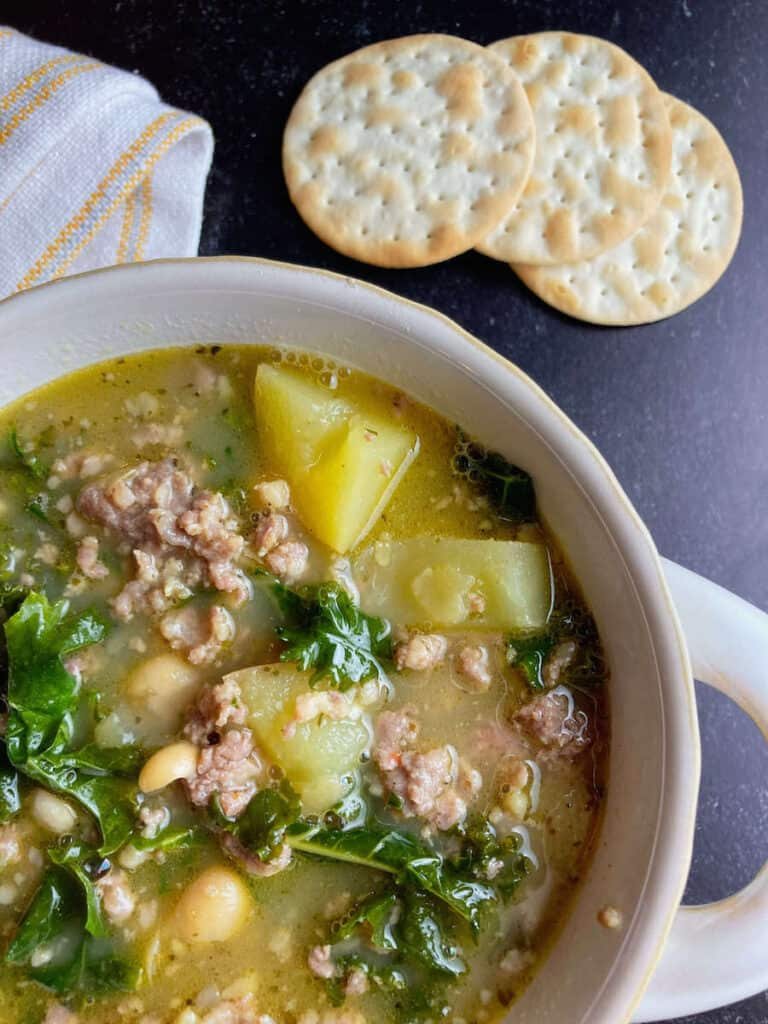 tuscan bean soup with sausage