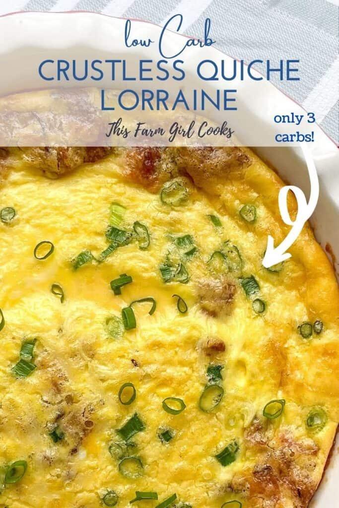 low carb Crustless Quiche Lorraine