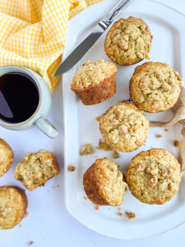 banana muffins on a plate