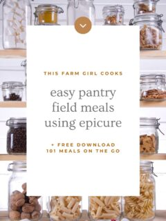 farm meals using epicure