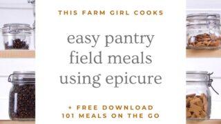 farm meals using epicure