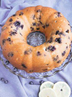 lemon blueberry bundt cake 4