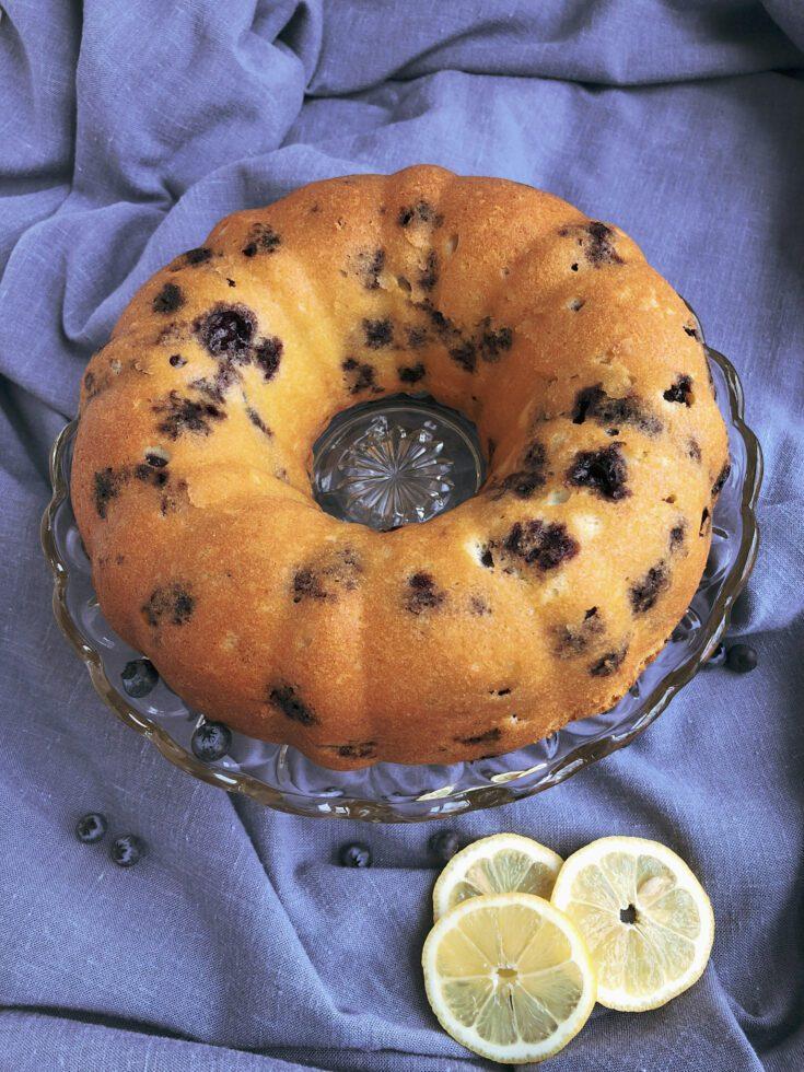 lemon blueberry bundt cake 5