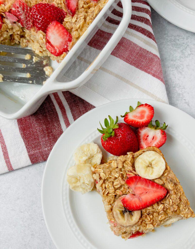 strawberry banana oatmeal bake 48