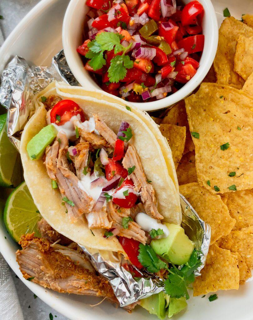 pork carntias tacos