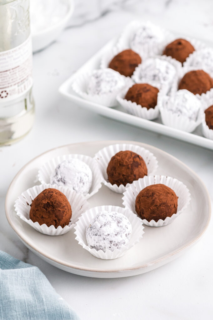 Rum Balls on a plate
