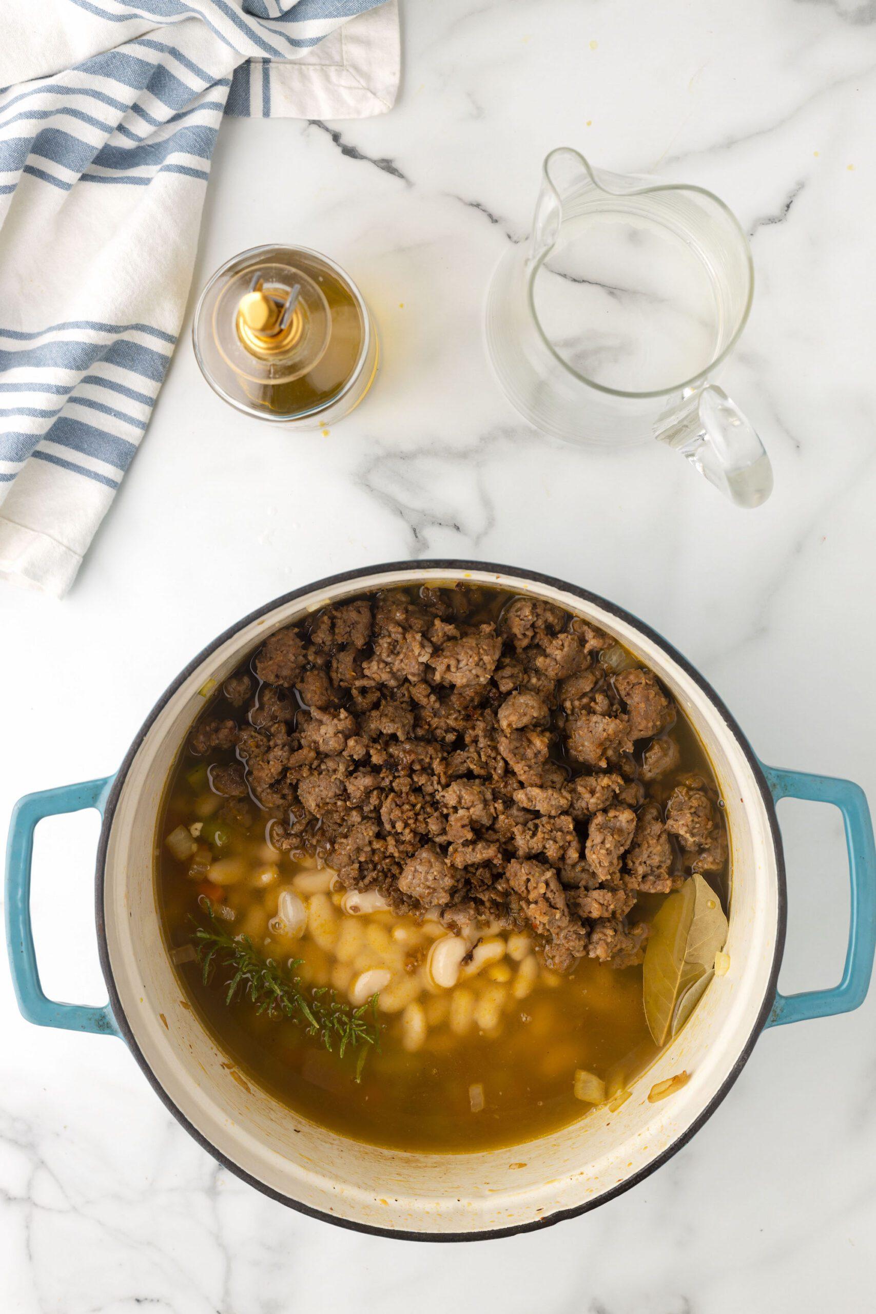 Italian White Bean Soup - This Farm Girl Cooks