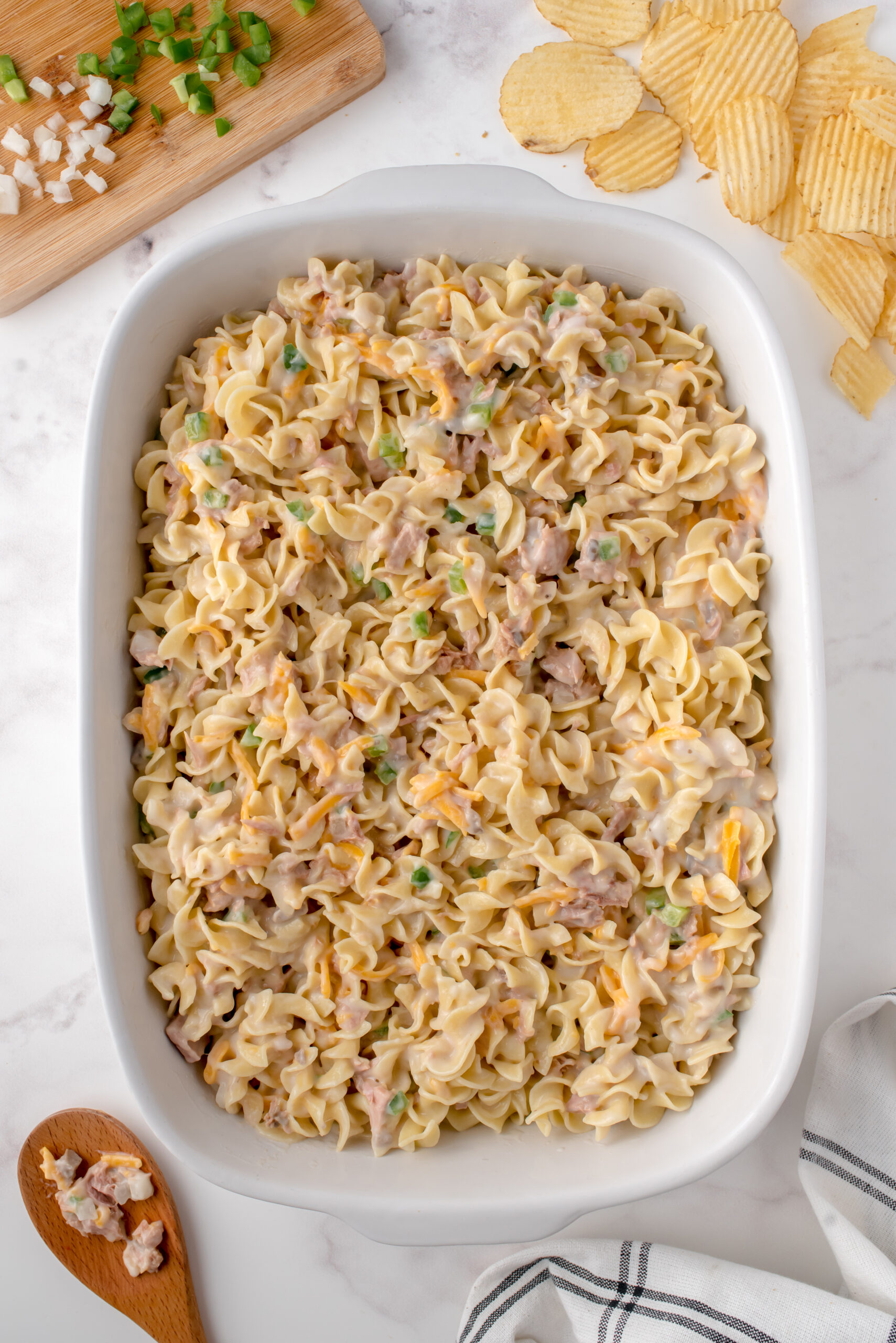 Old Fashioned Tuna Noodle Casserole - This Farm Girl Cooks
