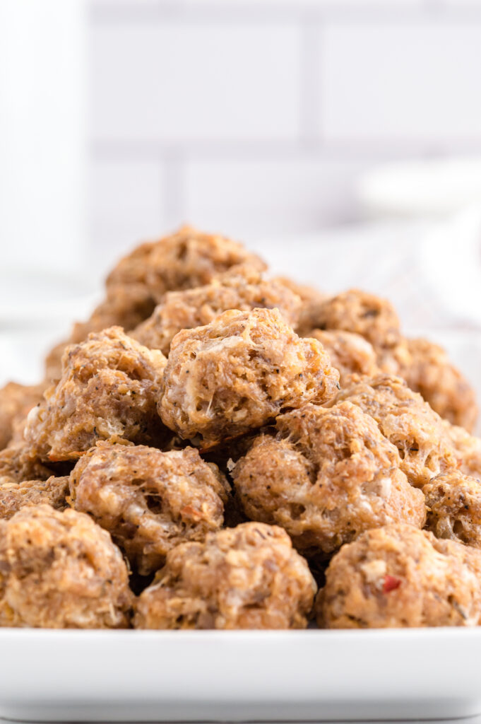 Sausage Balls with Cream Cheese