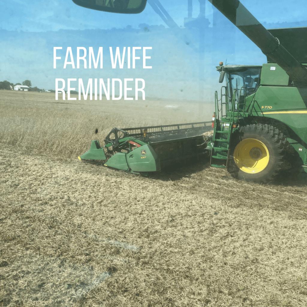 farm wife life harvest