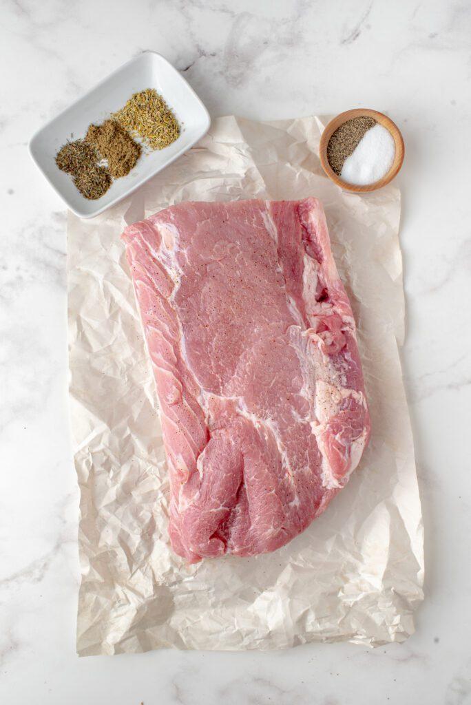 herb crusted pork loin ingredients