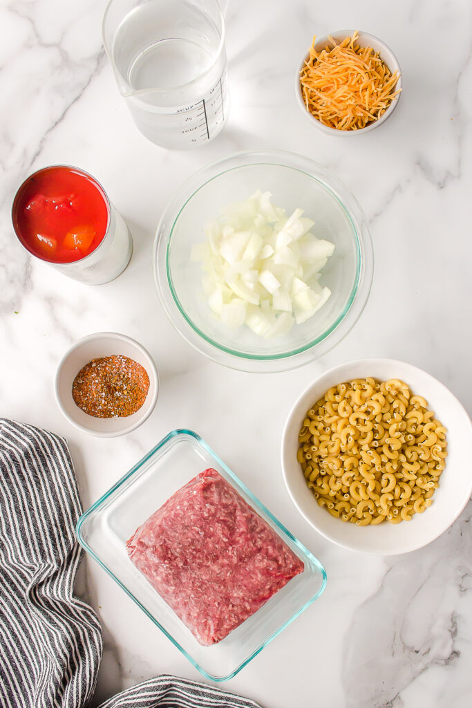 ingredients in instant pot chili mac
